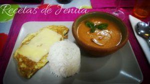 Omelet - Gaspacho - Riso Basmati